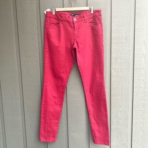 London Low Rise Red Denim Skinny Fit Jeans Size 32